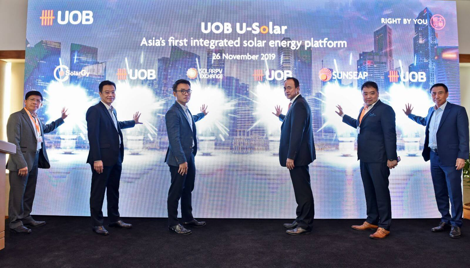 SolarGy, SolarPVExchange and Sunseap lend weight to UOB's solar financing plan